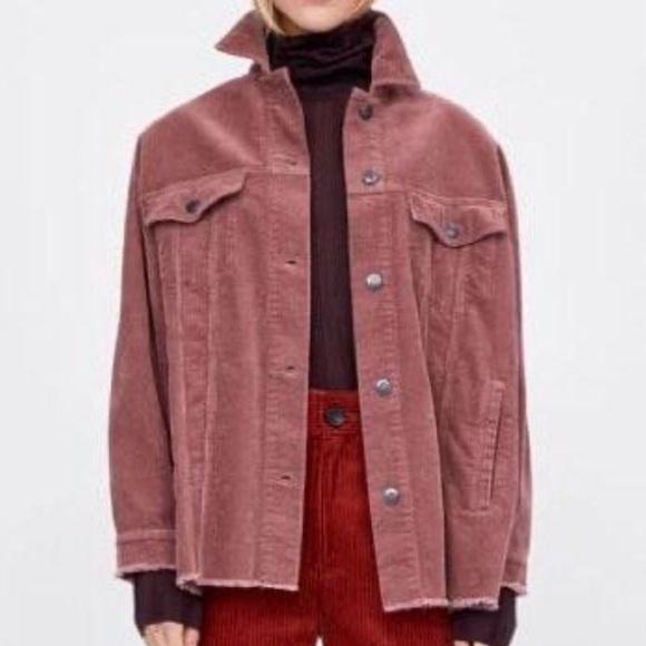 Zara Jackets & Blazers - SOLD🎉Zara Oversized Corduroy Jacket